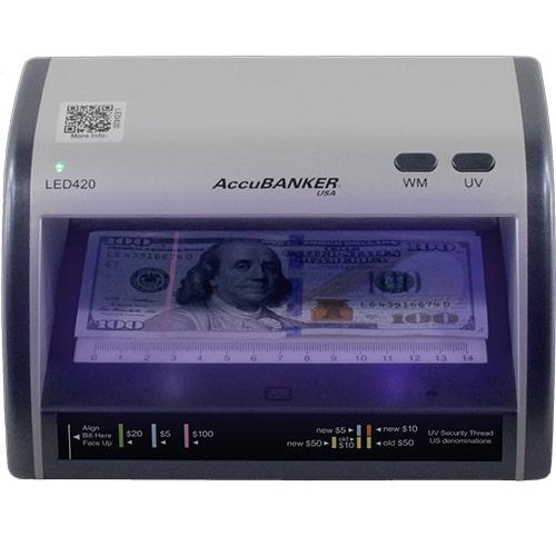 1-AccuBANKER LED420 tester banknotów