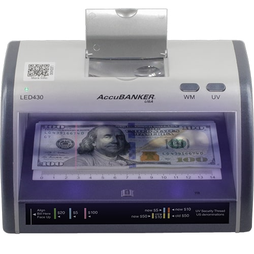 1-AccuBANKER LED430 tester banknotów